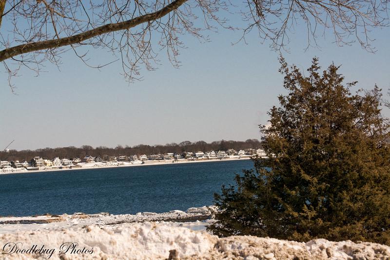 Winter 2015 Narragansett Bay February 16 2015 after Nemo
