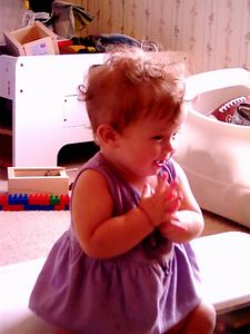 Katherine has learned to clap!, Aug. 17, 2004