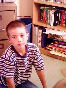 "Jonathan, ""Look, I got a haircut!"", July, 2004"