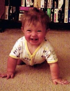"Katherine, ""Hey, I'm crawling!"", July, 2004"