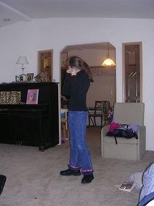 Frances getting ready for school