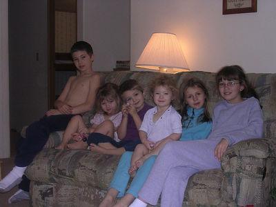 the kids, Christmas morning