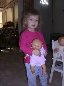 The BIG 2 year old, and her baby