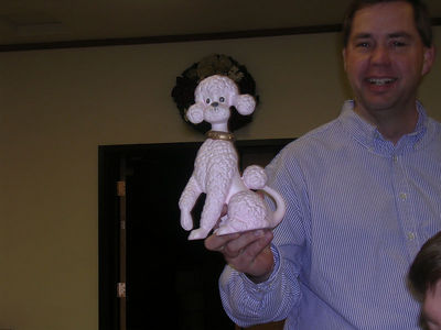 cell group Christmas party/birthday party - Pastor John's present