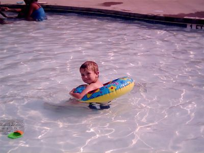Justin at Ft. Jackson water park