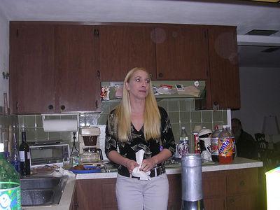 Kim, at Priscilla's house