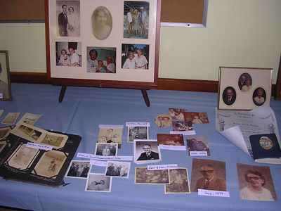 Pictures from the display at Grandpa's memorial service