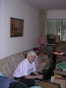 Aunt Gerry in Grandpa's living room
