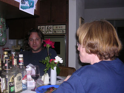 Jeff and Jenn at Priscilla's house