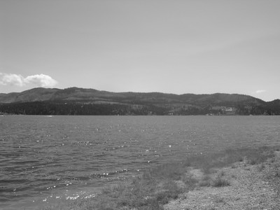 panorama of Canyon Ferry Lake