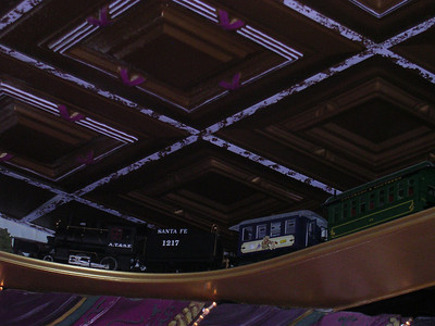 the train that goes around the ceiling at FOTF
