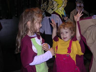 Leah and Katherine playing dress-up at FOTF