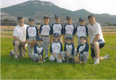 Justin's Rookie League team, the Mountain West Pathology, July, 2007