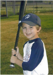 Justin in his Rookie League uniform, July, 2007