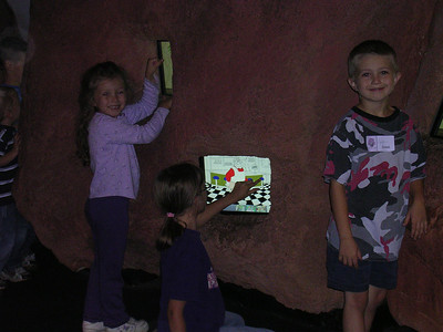 Leah, Heather, and Justin, playing on the screens at FOTF