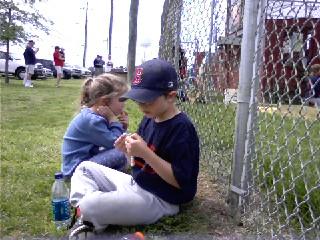 Justin and Leah at the ballpark