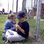 Justin and Leah at the ballpark