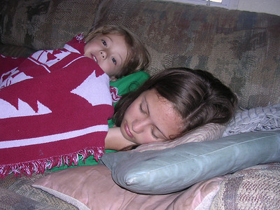 Katherine and Frances napping