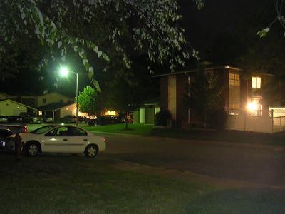 my neighborhood, at night