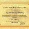 Jason's Sailor of the Quarter certificate