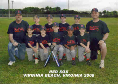 Justin's baseball team...the winning team who finished their season 16-0