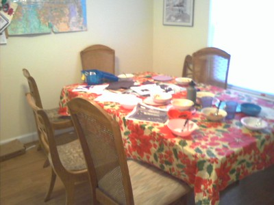 Our dining room...how it NORMALLY looks...