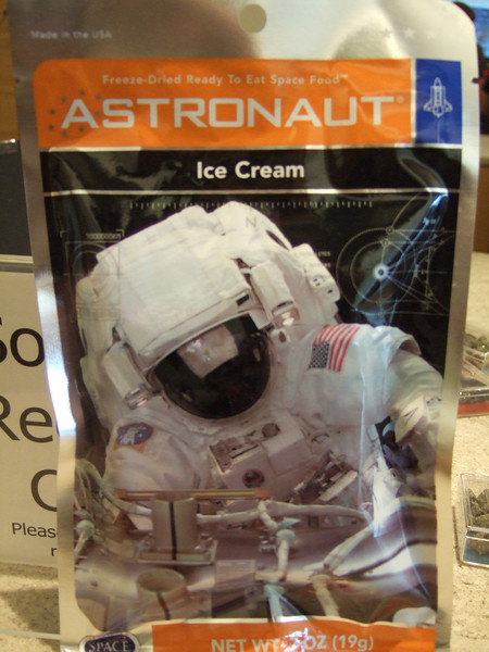 Astronaut's Ice Cream.... I wonder how it tastes!