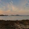 Port-Blanc, sa chapelle, son restau en bord de mer et le coucher de soleil qui va bien, majeur.