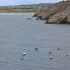Presqu'île de Crozon. Les bateaux, les rochers, les bruyères...