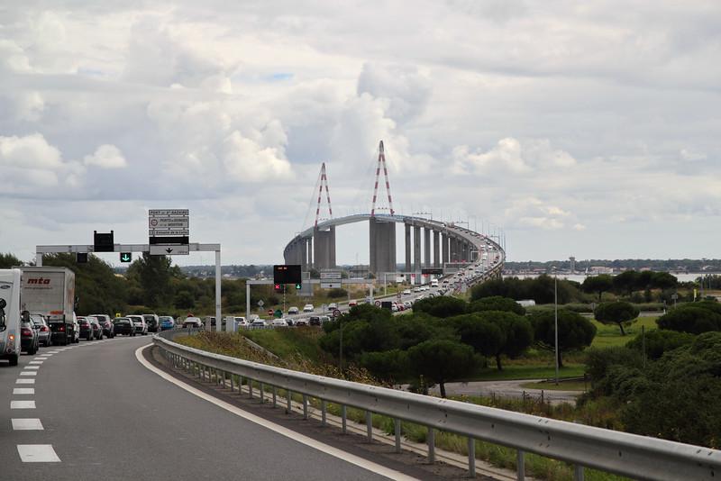 Viaduc au-dessus de La Loire à Saint-Nazaire.