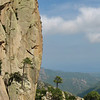 Les falaises de granite de Bavella. Au sommet du Dos de l'Elephant.