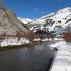 Ubaye, une rivière magnifique qui donne envie de se préoccuper de pêche plutôt que de ski.