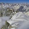 Classico-classique, massif du Mont-Blanc depuis l'Aiguille du Midi.