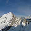 Dans les Aravis, Mont Charvin depuis l'Aiguille de Serraval