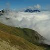 Bauges : alpage d'Orizan et Mont-Blanc