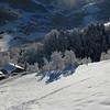 Lendemain de chute de neige sur le Beaufortain, hameau des Carroz à Arêches