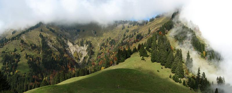 Bauges : Col du Haut du Four en automne