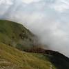 Bauges : Chalet d'alpage d'Orizan et mer de nuage