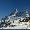 Glacier de Leschaux : Aiguille de la République, Aiguille du Moine et La Verte. Ya du beau monde par là !