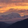 Lever de soleil sur le Mont-Blanc.<br /> Quand réveil rime avec lumières féériques... les joies du mois de septembre.