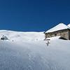 Le chalet d'alpage d'Orisan au cœur de l'hiver