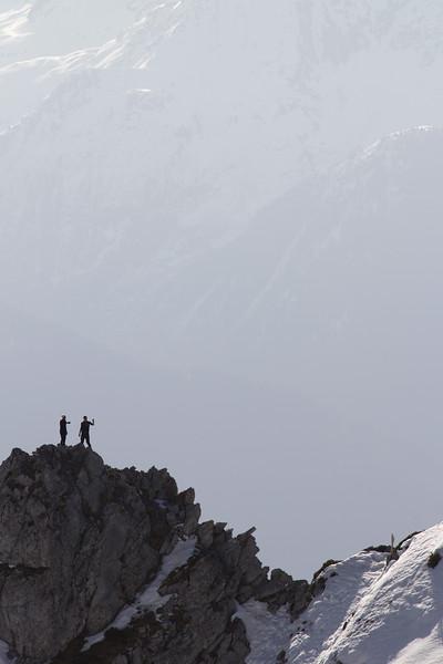 Montagnes des Bauges, de la moyenne montagne mais très alpine.