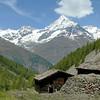 Vallée de Zermatt : le Weisshorn depuis Stafelti.