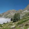 Valgaudemar dans les Ecrins : vallée minérale, austère et sauvage. En amont du Refuge des Souffles.