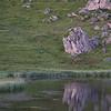 Soirée pêche au Lac des Fées. Le coin est idyllique, mais les poissons ne sont pas au rendez-vous !