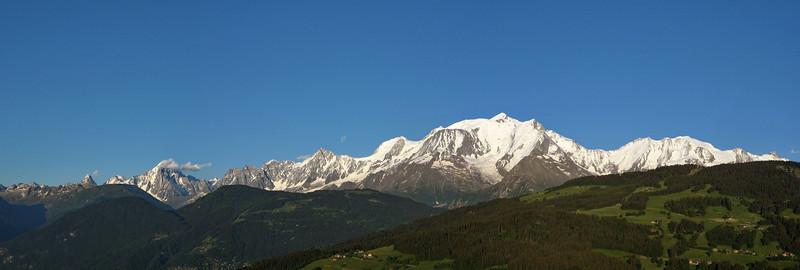 Massif du Mont-Blanc depuis Combloux, classique et efficace