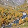 Couleur d'automne sur la vallée des Chapieux.<br /> (Bourg-Saint-Maurice, Savoie)