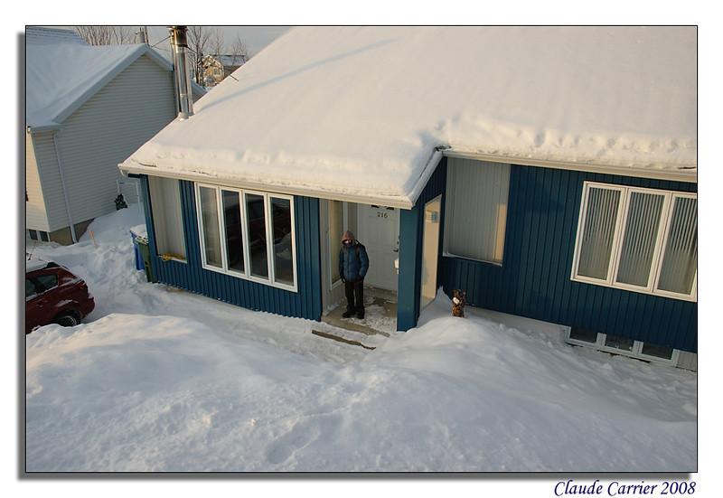 banc neige terrain