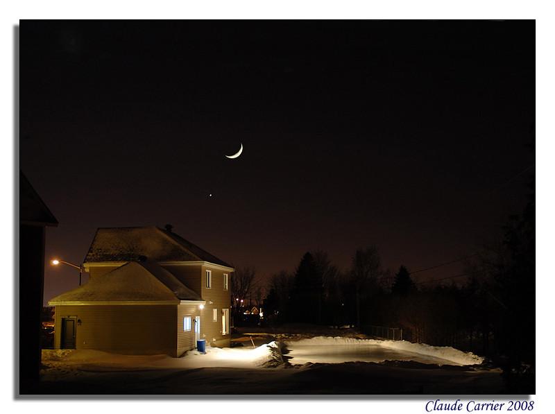 patinoire du voisin avec nouvelle lune