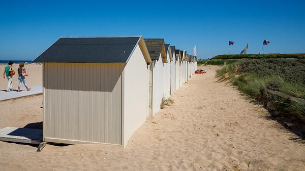 Cabanes de la plage de Ouistreham